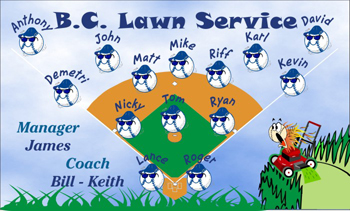 Miscellaneous Team Name Baseball Banner - Custom Miscellaneous Team Name Baseball Banner