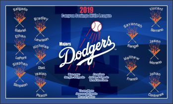 Dodgers Baseball Banner - Custom Dodgers Baseball Banner