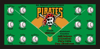Pirates Baseball Banner - Custom Pirates Baseball Banner