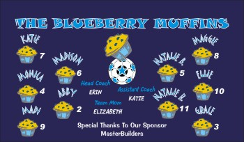 Blueberries Soccer Banner - Custom BlueberriesSoccer Banner