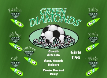 Diamonds Soccer Banner - Custom Diamonds Soccer Banner