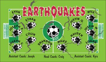 Earthquakes Soccer Banner - Custom Earthquakes Soccer Banner