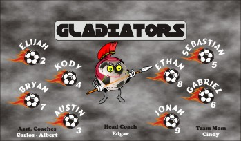 Gladiators Soccer Banner - Custom Gladiators Soccer Banner