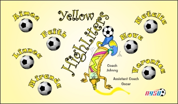 Highlighters Soccer Banner - Custom Highlighters Soccer Banner
