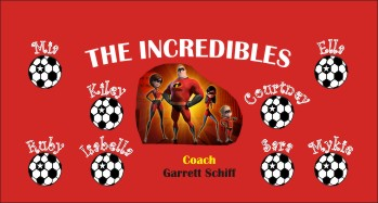 Incredibles Soccer Banner - Custom Incredibles Soccer Banner
