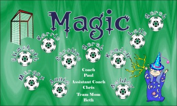 Magic Soccer Banner - Custom Magic Soccer Banner