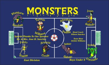 Monsters Soccer Banner - Custom MonstersSoccer Banner