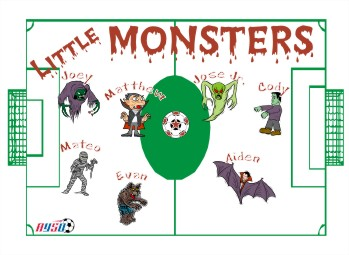 Monsters Soccer Banner - Custom Monsters Soccer Banner