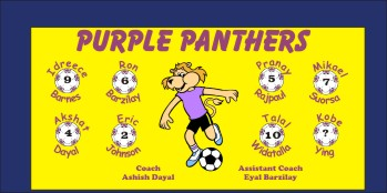Panthers Soccer Banner - Custom Panthers Soccer Banner