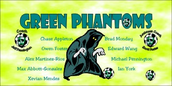 Phantoms Soccer Banner - Custom Phantoms Soccer Banner