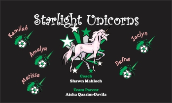 Unicorns Soccer Banner - Custom Unicorns Soccer Banner