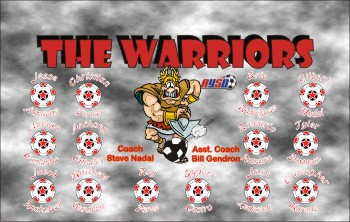Warriors Soccer Banner - Custom WarriorsSoccer Banner