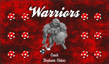 Warriors Soccer Banner - Custom Warriors Soccer Banner