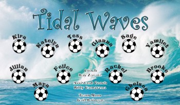 Waves Soccer Banner - Custom Waves Soccer Banner
