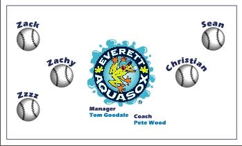 Everett AquaSox Baseball Banner - Custom Everett AquaSox Baseball Banner