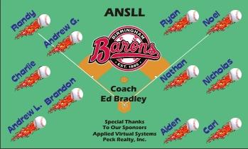 Birmingham Barons Baseball Banner - Custom Birmingham Barons Baseball Banner