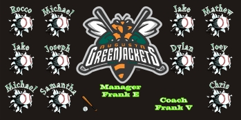 Augusta GreenJackets Baseball Banner - Custom Augusta GreenJackets Baseball Banner