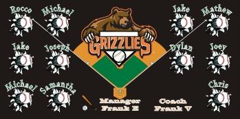 Fresno Grizzlies Baseball Banner - Custom Fresno Grizzlies Baseball Banner