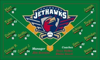 Lancaster JetHawks Baseball Banner - Custom Lancaster JetHawks Baseball Banner