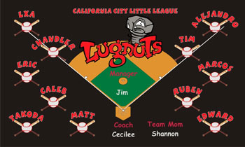 Lansing Lugnuts Baseball Banner - Custom Lansing Lugnuts Baseball Banner