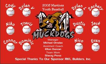 Batavia Muckdogs Baseball Banner - Custom Batavia Muckdogs Baseball Banner