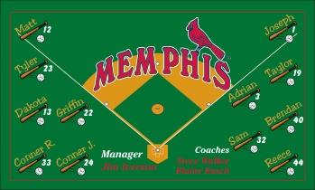 Memphis Redbirds Baseball Banner - Custom Memphis Redbirds Baseball Banner