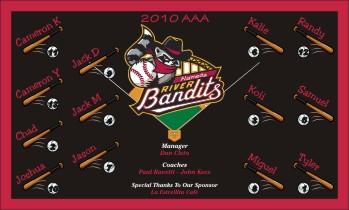 Quad Cities River Bandits Baseball Banner - Custom Quad Cities River Bandits Baseball Banner
