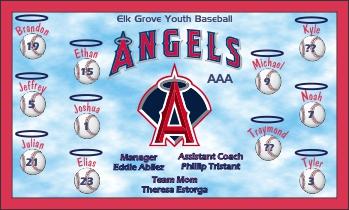 Angels Baseball Banner - Custom Angels Baseball Banner