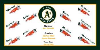 Athletics  Baseball Banner - Custom Athletics  Baseball Banner