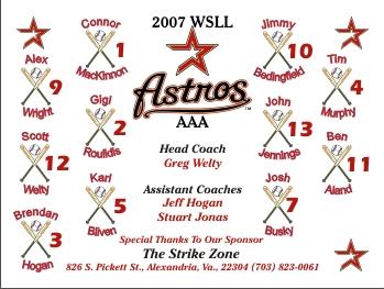 Astros Baseball Banner - Custom Astros Baseball Banner