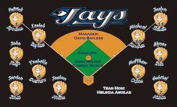 Blue Jays Baseball Banner - Custom Blue Jays Baseball Banner