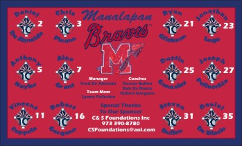 Braves Baseball Banner - Custom Braves Baseball Banner