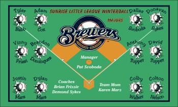 Brewers Baseball Banner - Custom Brewers Baseball Banner