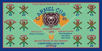 Cubs Baseball Banner - Custom Cubs Baseball Banner