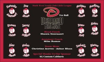 Diamondbacks Baseball Banner - Custom Diamondbacks Baseball Banner