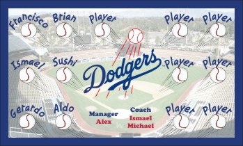 Dodgers Baseball Banner - Custom Dodgers Baseball Banner
