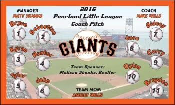 Giants Baseball Banner - Custom Giants Baseball Banner