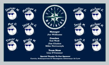 Mariners Baseball Banner - Custom Mariners Baseball Banner