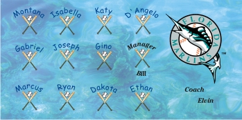 Marlins Baseball Banner - Custom Marlins Baseball Banner