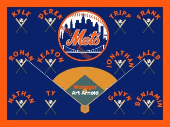 Mets Baseball Banner - Custom Mets Baseball Banner