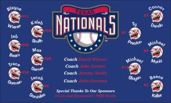 Nationals Baseball Banner - Custom Nationals Baseball Banner