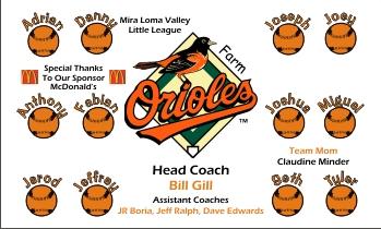 Orioles Baseball Banner - Custom Orioles Baseball Banner