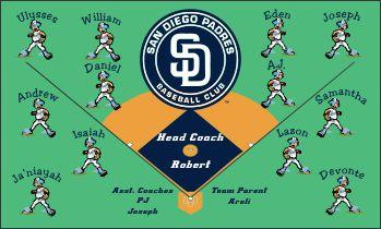Padres Baseball Banner - Custom Padres Baseball Banner