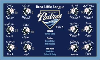 Padres Baseball Banners And Custom Baseball Banner San Diego Padres