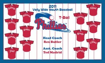 Phillies Baseball Banner - Custom Phillies Baseball Banner