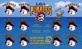 Pirates Baseball Banner - Custom Pirates Baseball Banner