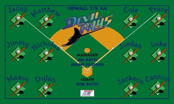 Rays Baseball Banner - Custom Rays Baseball Banner