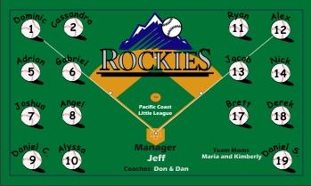 Rockies Baseball Banner - Custom Rockies Baseball Banner