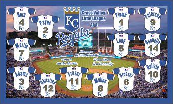 Royals Baseball Banner - Custom Royals Baseball Banner