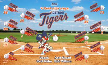 Tigers Baseball Banner - Custom Tigers Baseball Banner